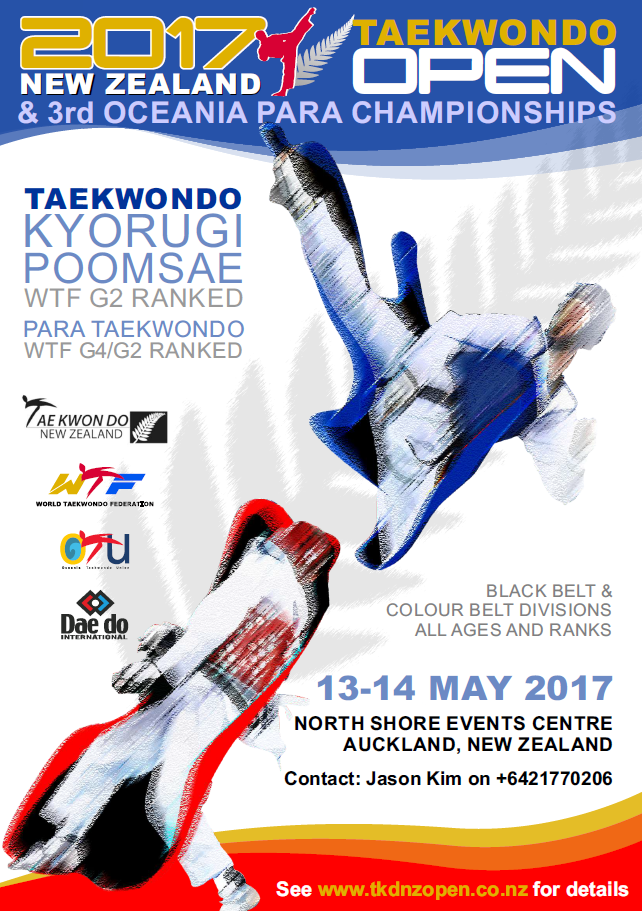 Two courses to be held before Taekwondo New Zealand Open