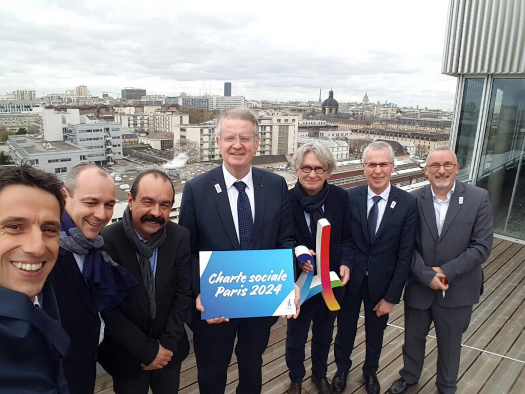 "A ""wide-ranging"" and ""landmark"" social charter has been signed by the Paris 2024 Bid Committee and five major trade unions ©Paris 2024"