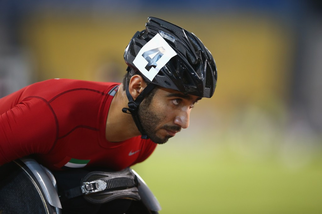 Mohamed Hammadi was victorious in the 800m men's T33/34/53 race ©Getty Images