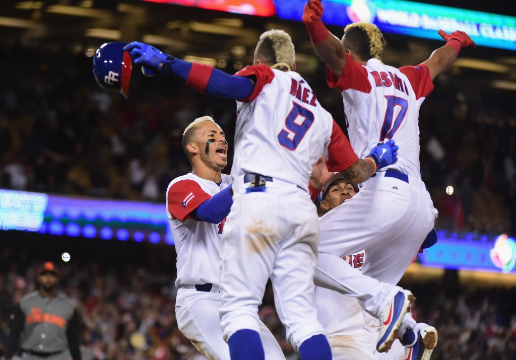 Puerto Rico, pictured, defeated The Netherlands 4-3 to reach the final of the 2017 World Baseball Classic ©Getty Images