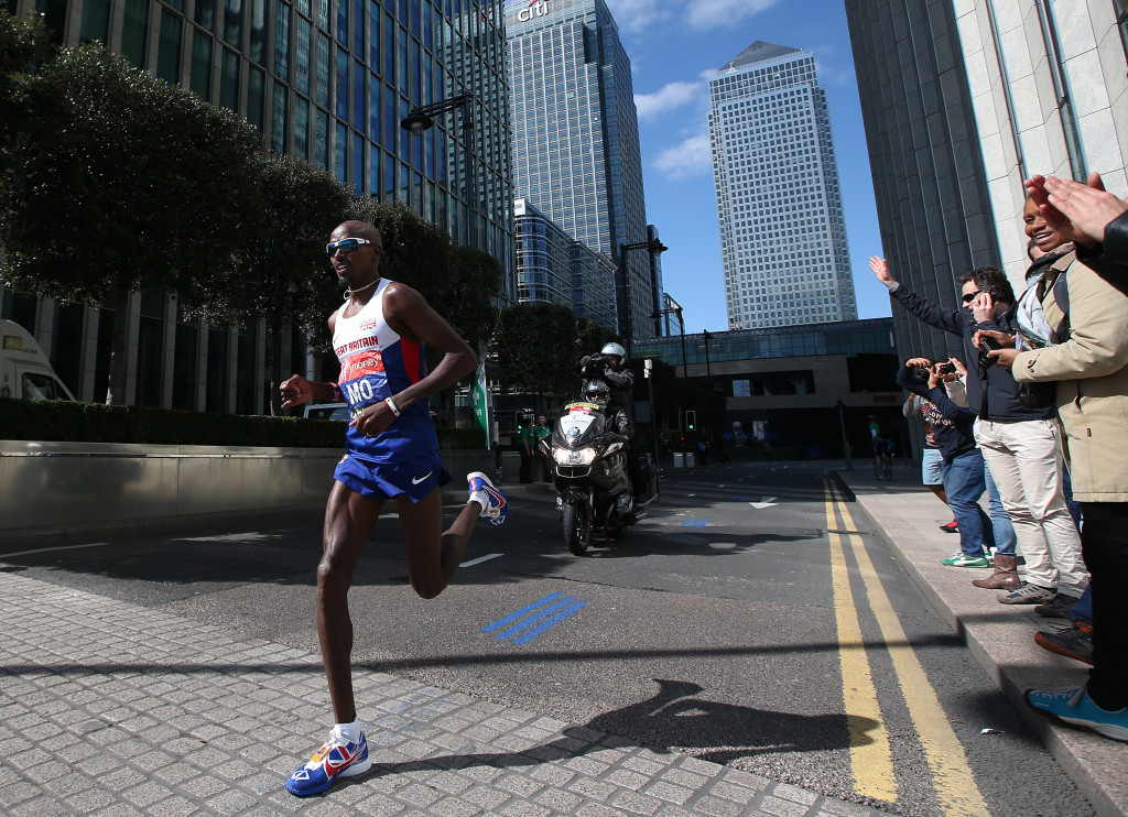 Sir Mo Farah is thought to have been given the injection before the 2014 London Marathon ©Getty Images