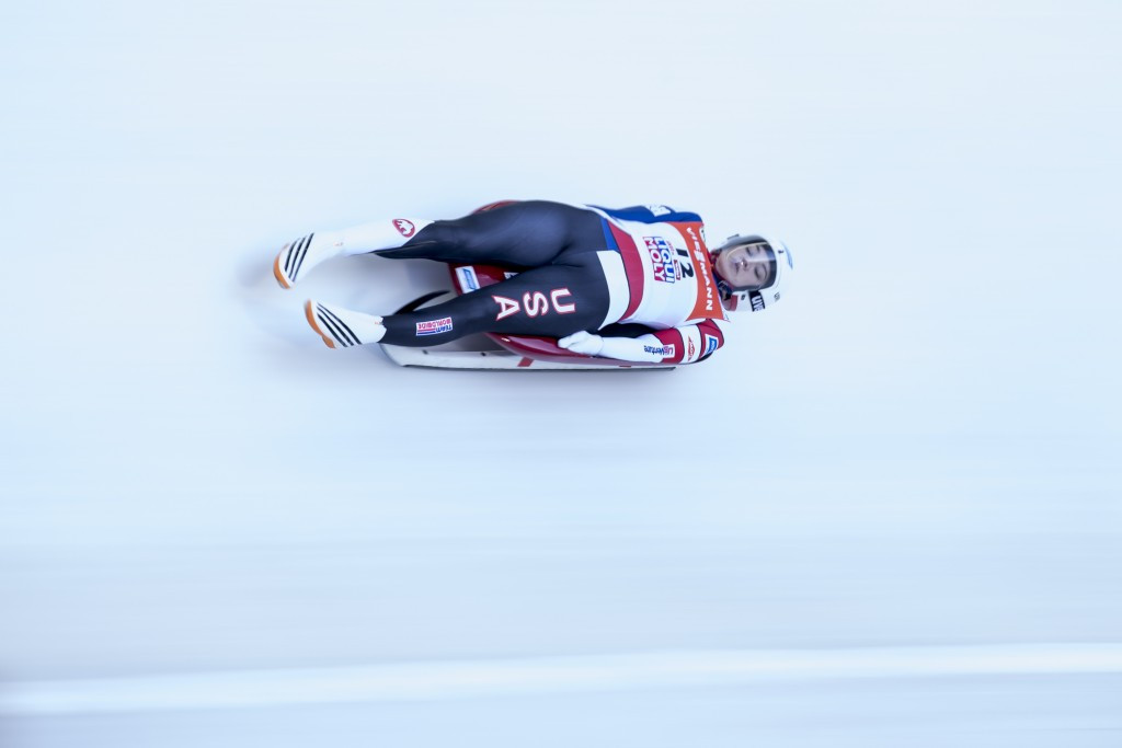 Britcher wins opening race of USA Luge's Pyeongchang 2018 selection period