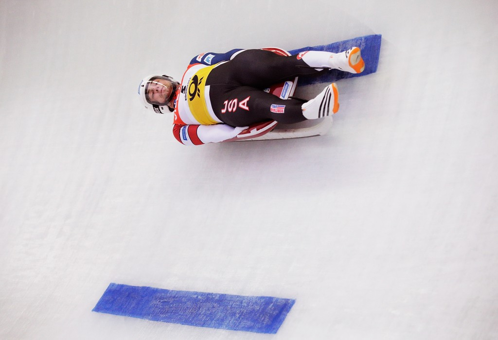 Chris Mazdzer won the men's event in Lake Placid ©Getty Images