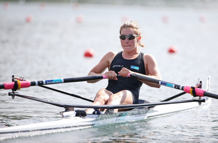 New Zealand's Zoe McBride, who set a World Best Time in the women's lightweight single sculls at the last World Cup in Varese, settled for gold at the Lucerne World Rowing Cup