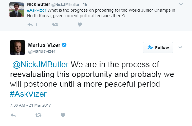 IJF President Marius Vizer was responding to a question from insidethegames senior reporter Nick Butler during a live Twitter Q&A session ©Twitter