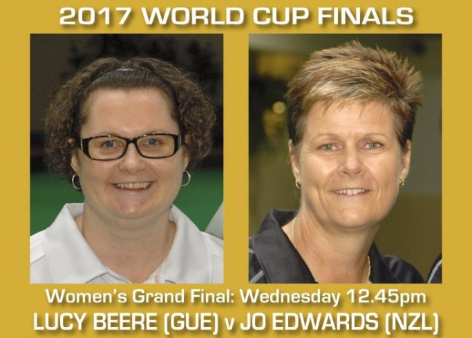 Lucy Beere will face Jo Edwards in the women's final tomorrow ©World Bowls