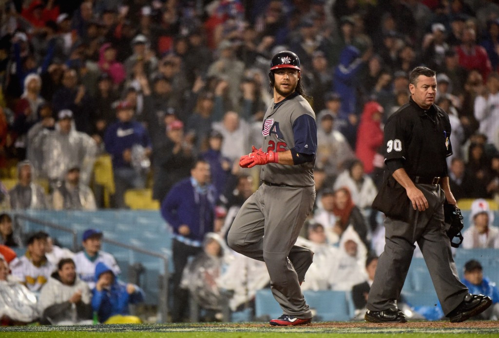 A single score by Brandon Crawford in the eighth innings sealed the win for the United States ©Getty Images