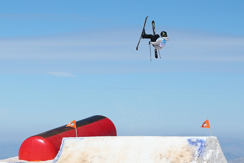 James Woods led after round two of the slopestyle event before crashing on his third and final run ©Getty Images