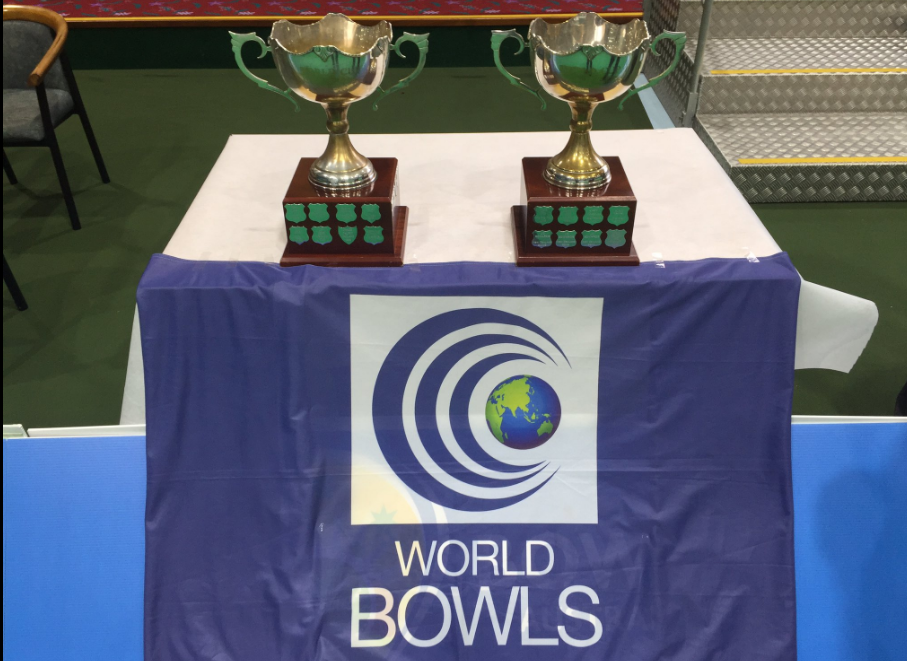 Trophies in both the male and female competitions were awarded today ©Twitter/Bowls Australia
