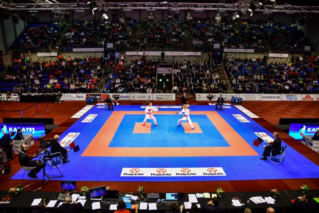 The meeting took place at the Rotterdam leg of the Karate 1-Premier League ©WKF