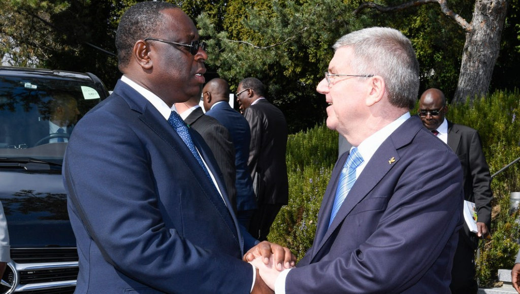 Senegalese President meets with Bach in Lausanne