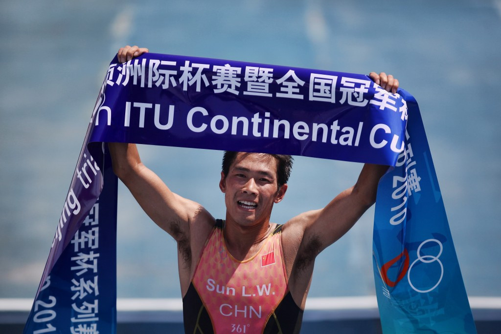 Liwei Sun is one of two athletes to have been sanctioned by the ITU ©Getty Images