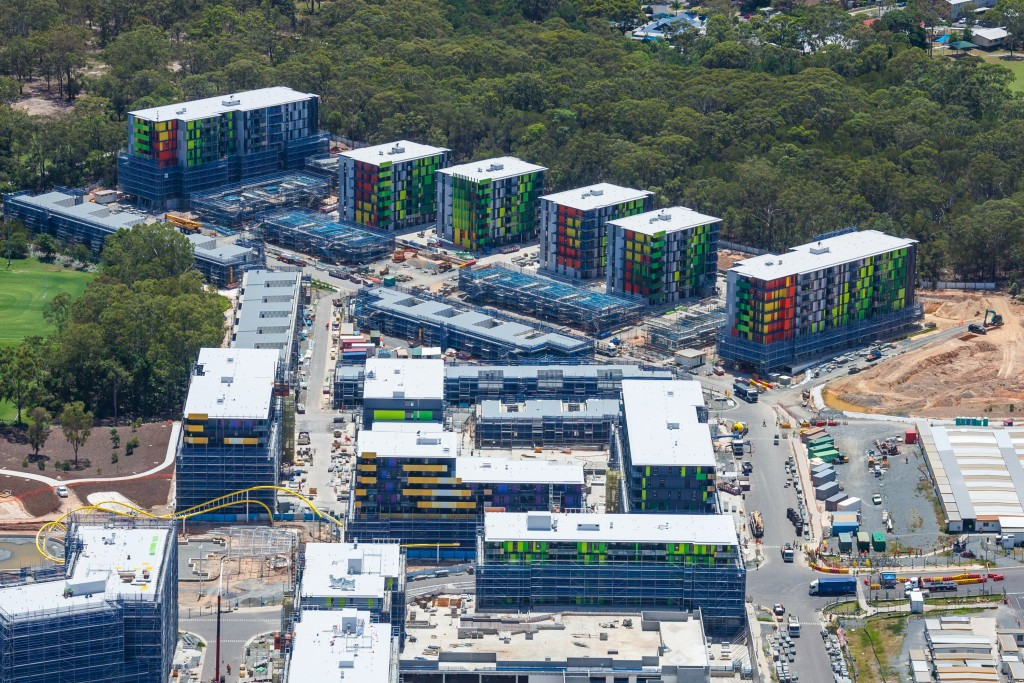 Gold Coast 2018 will set up several temporary facilities at the Athletes' Village site ©Getty Images