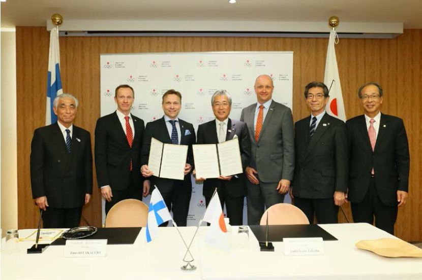 Olympic Committees of Finland and Japan sign partnership agreement