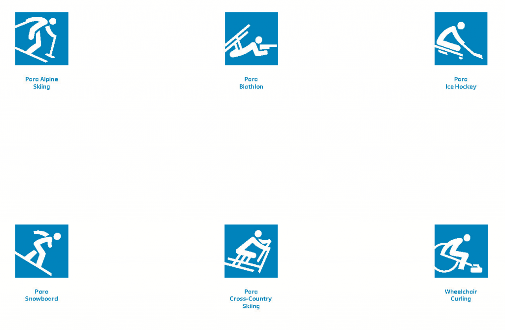 All six Paralympic disciplines have been depicted in the pictograms ©Pyeongchang 2018