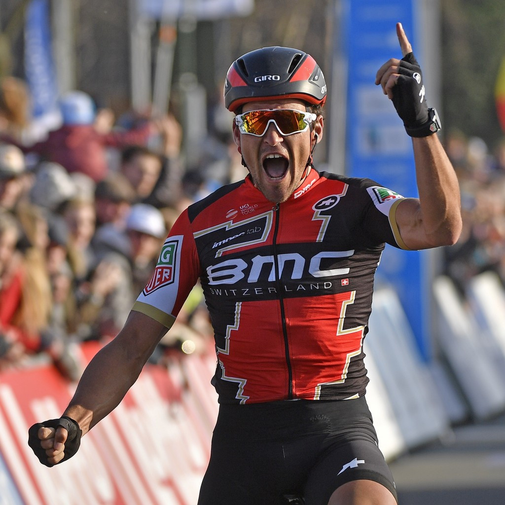 Van Avermaet edges fellow Belgians to win E3 Harelbeke