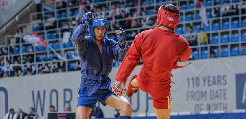 Action begun today at the Sambo World Cup in Moscow ©FIAS/Facebook