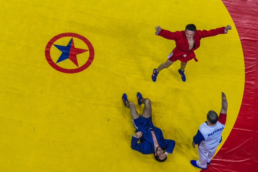 Day one of the Sambo World Cup saw 12 medal sets awarded ©FIAS/Facebook
