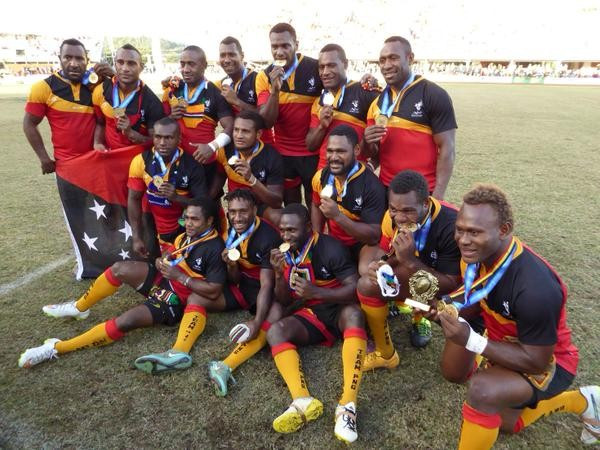 Papua New Guinea sealed a deserved victory over Samoa to earn gold in rugby league nines ©Joanna Lester/Twitter
