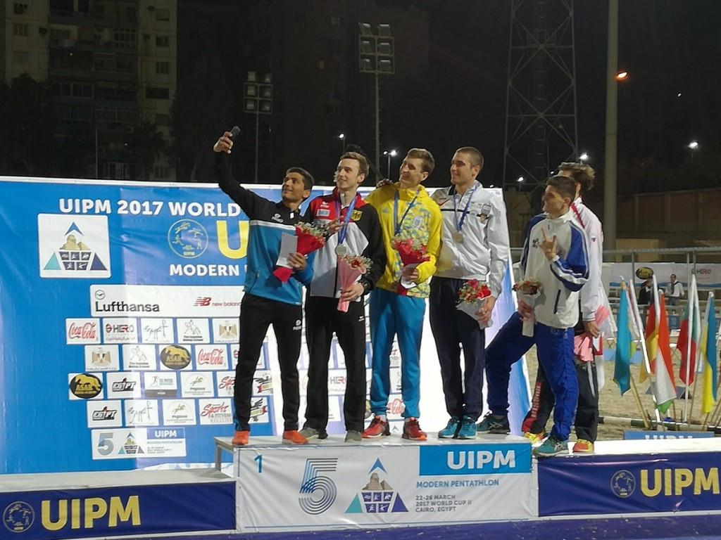 Pavlo Tymoshchenko won the men's competition in Cairo ©UIPM
