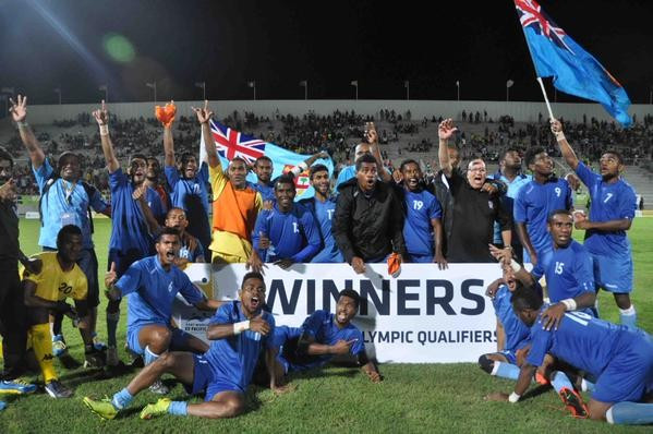 Fiji sealed a Rio 2016 berth with victory over Vanuatu in the Olympic qualification tournament final ©OFC