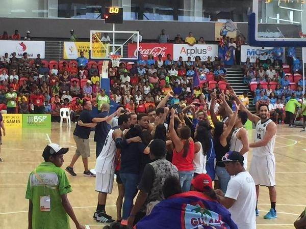 Guam claimed their first-ever Pacific Games basketball gold medal with victory over Fiji ©charesp/Twitter