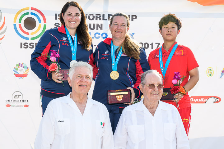 The United States enjoyed a dominant day as they claimed gold and silver ©ISSF