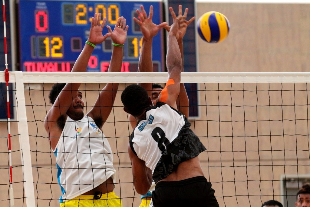 The second day of volleyball action included four matches at the BSP Arena ©Port Moresby 2015