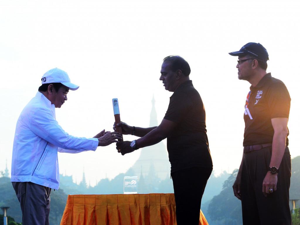 "Yangon has staged the third leg of the Kuala Lumpur 2017 SEA ""Rising Together"" Baton Run ©Kuala Lumpur 2017"