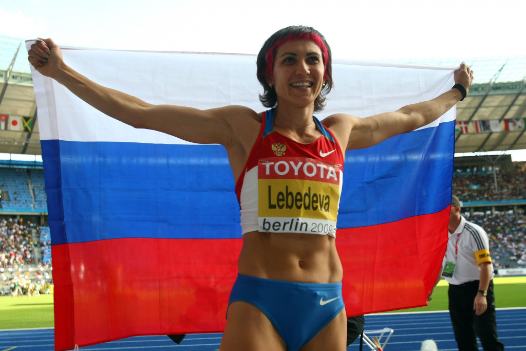Tatyana Lebedeva won the gold medal in the long jump but tested positive in a retrospective test from Beijing 2008 ©Getty Images