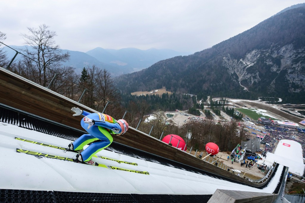 Austria's Stefan Kraft clinched his first-ever overall FIS Ski Jumping World Cup title today ©Getty Images