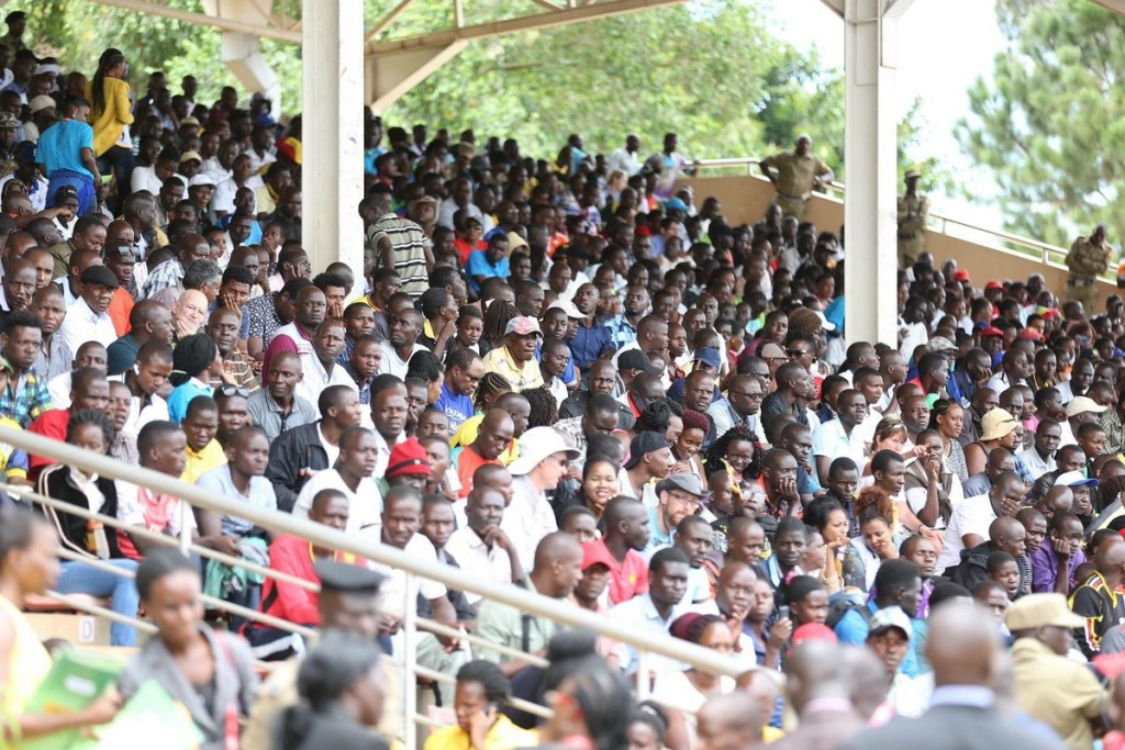 Home fans at the Kololo Independence Ground in Kampala were rewarded with home gold ©IAAF