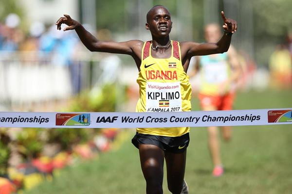 Jacob Kiplimo claimed Uganda's first-ever gold medal at an IAAF World Cross Country Championships after winning the men's under-20 race in front of a home crowd in Kampala ©IAAF/Roger Sedres