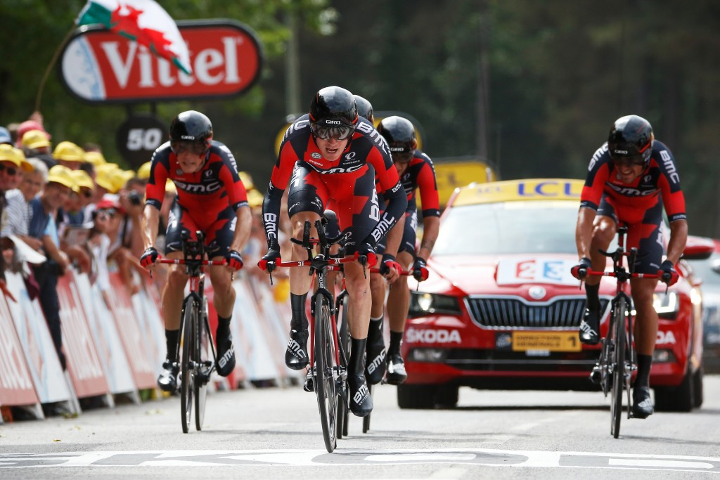 BMC Racing claim narrow victory in Tour de France team time trial but Froome remains in yellow jersey