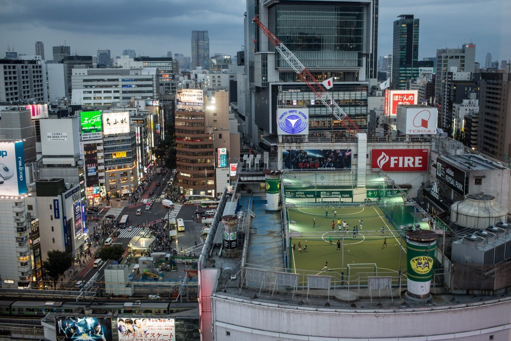 Protesters oppose construction projects in Tokyo