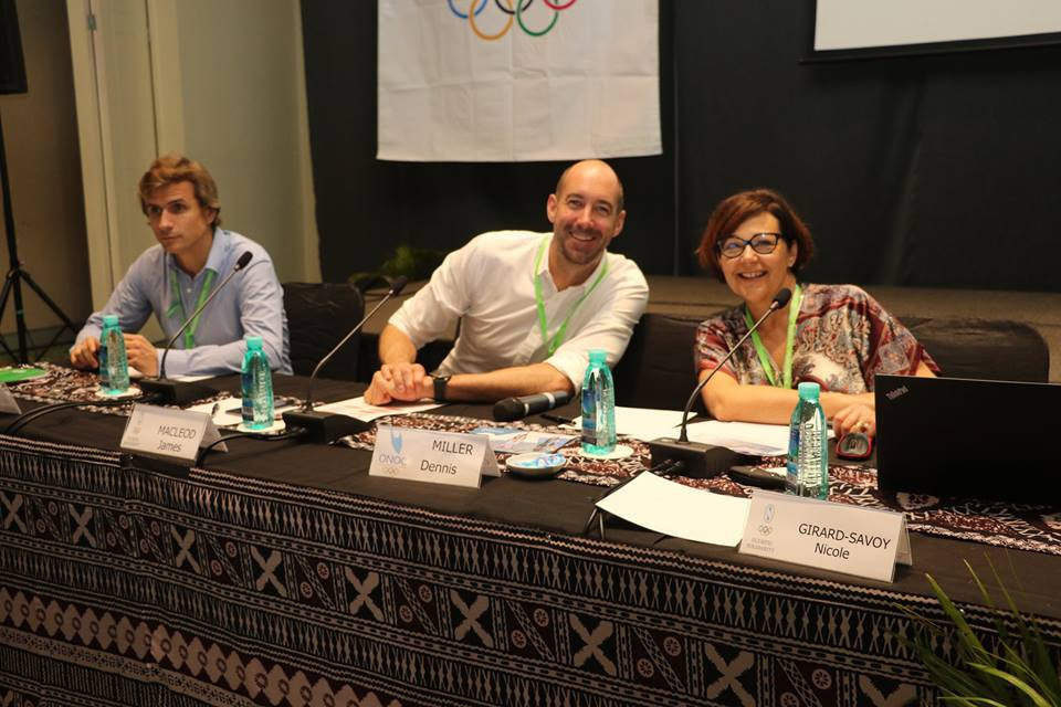 Olympic Solidarity's Nicole Girard-Savoy is leading the Forum ©Facebook