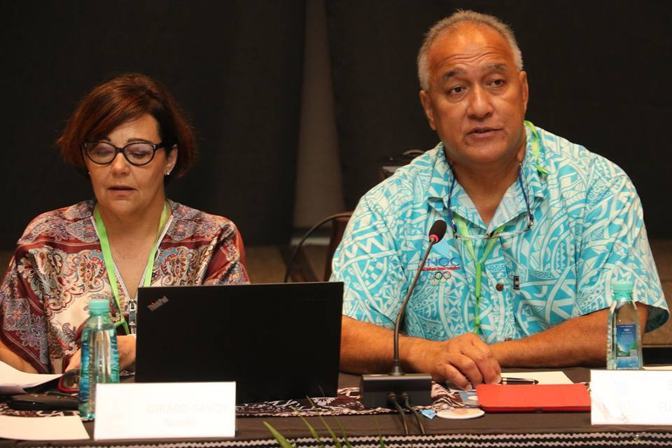 Guam's Ricardo Blas, right, will seek re-election as Oceania National Olympic Committees secretary general, but faces the challenge of the Cook Islands' Hugh Graham ©Facebook