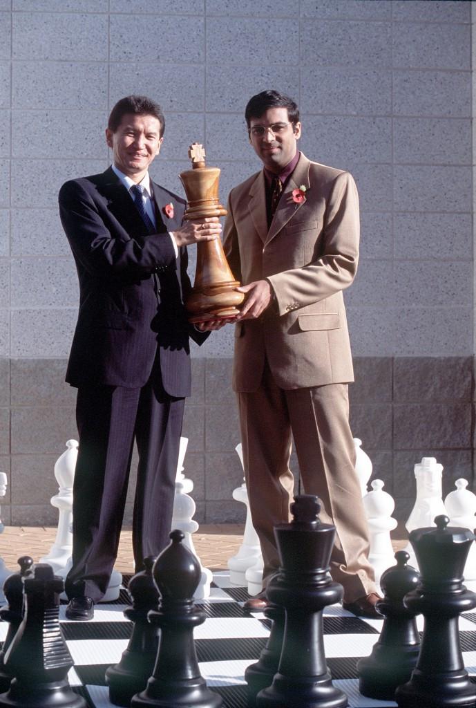 Kirsan Ilyumzhinov, left, has headed FIDE since 1995 ©Getty Images
