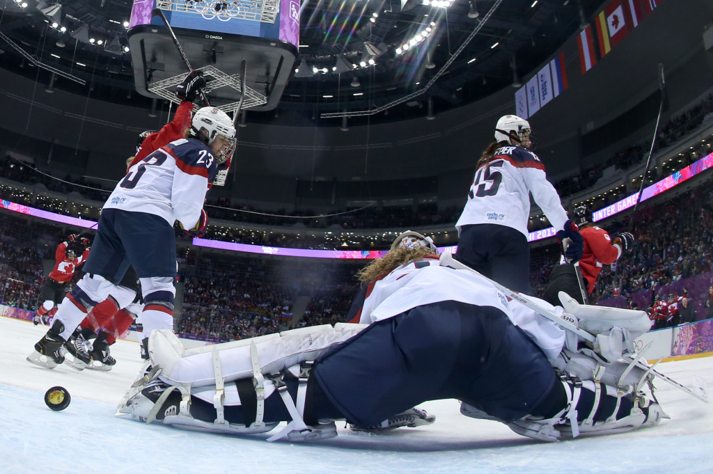 United States are the three-time defending champions in women's ice hockey ©Getty Images