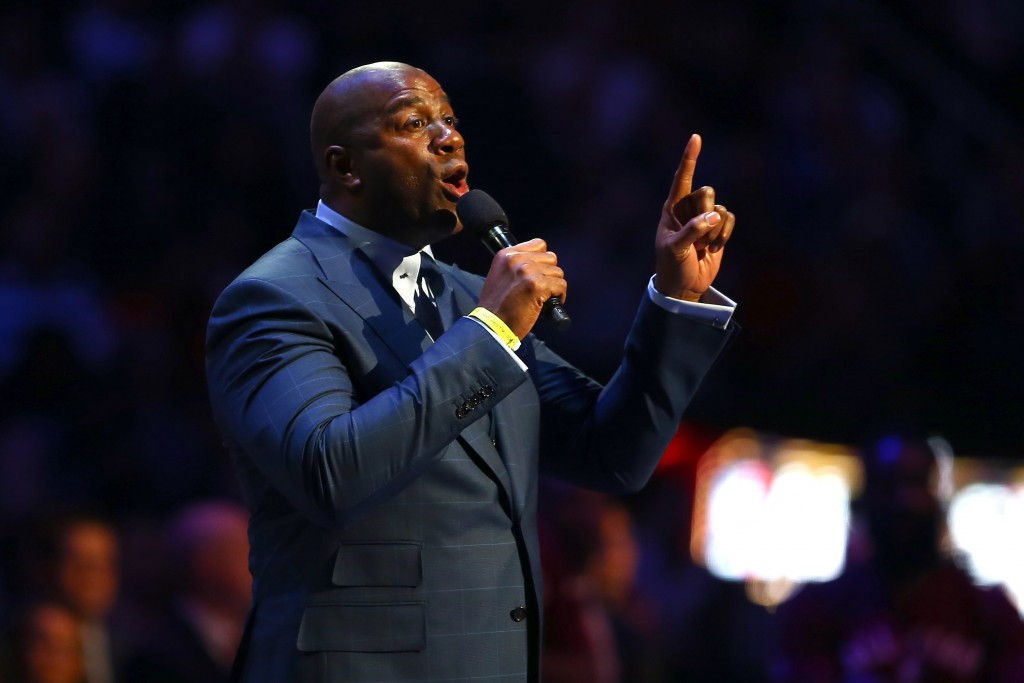 "Basketball legend Earvin ""Magic"" Johnson is among the several owners and executives from American sports teams to have joined Los Angeles 2024's Board of Directors ©Getty Images"