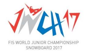 """Vaizdo rezultatas pagal užklausą """"fis snowboard junior world championship 2017"""""""