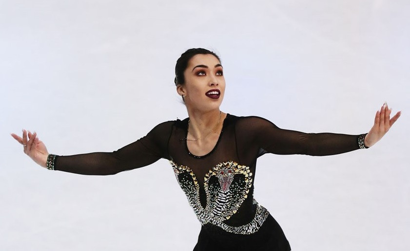 Gabrielle Daleman of Canada finished the short programme in third place ©ISU
