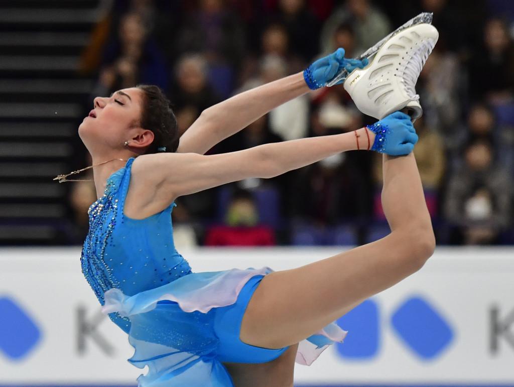 Defending champion Medvedeva leads after short programme at World Figure Skating Championships