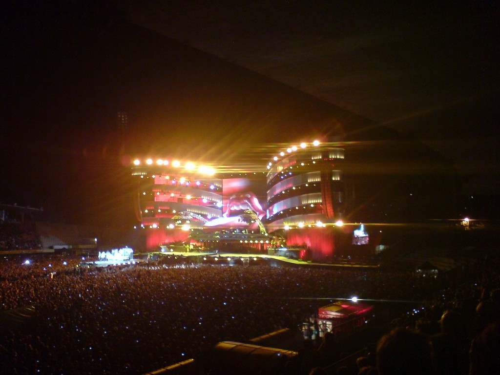 The Rolling Stones played at the Stade De La Pontaise in 2007