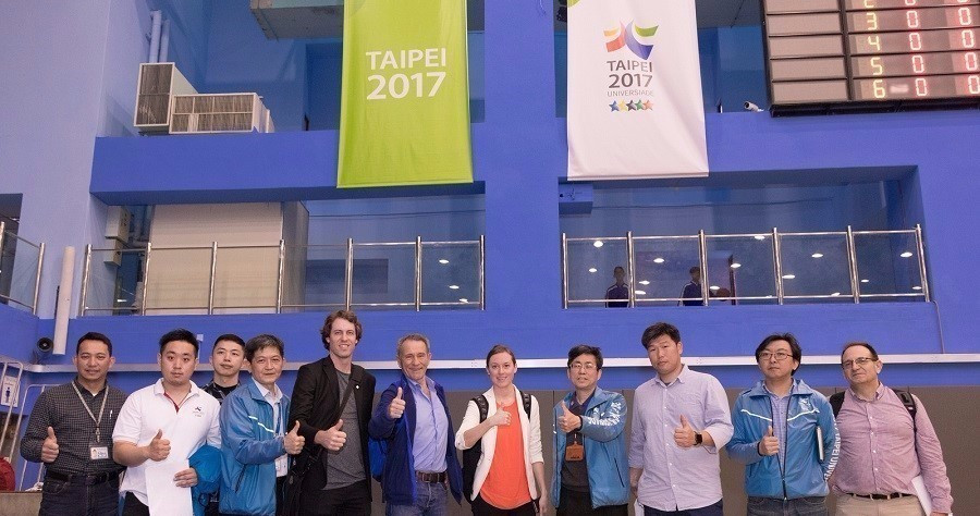 FISU officials inspect Taipei 2017 Summer Universiade progress