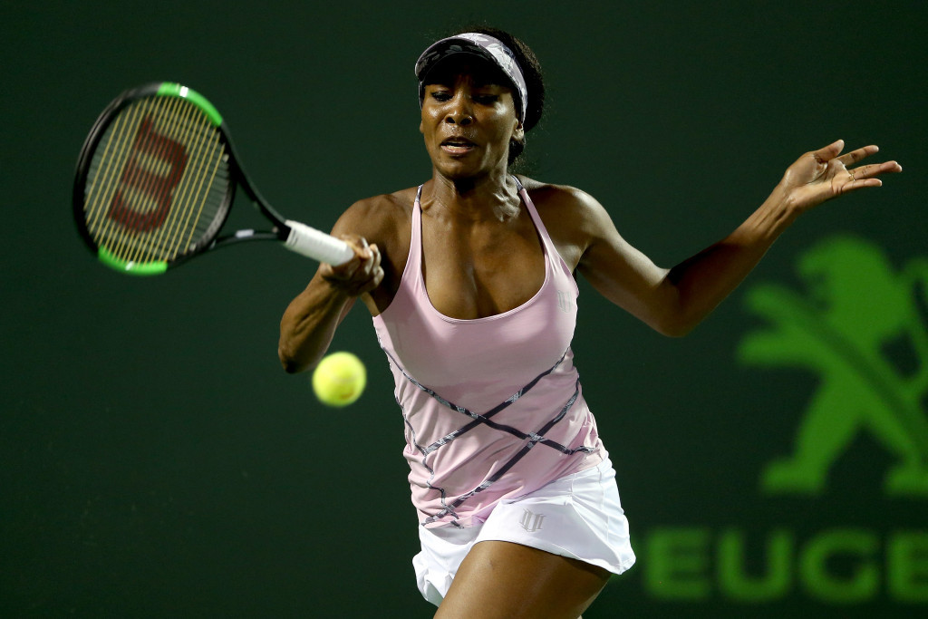 Williams into Miami Open semi-finals after beating Kerber