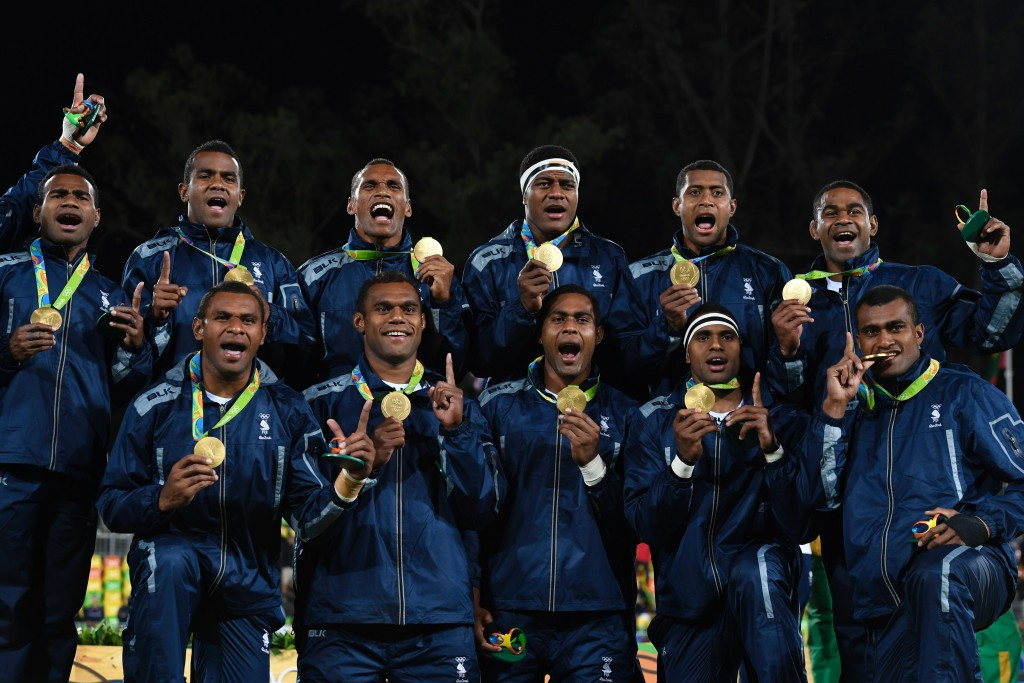 Fiji's rugby sevens Olympic gold medal at Rio 2016 is being viewed as inspiration for fellow Pacific nations ©Getty Images