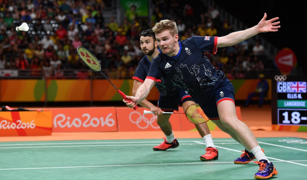 Great Britain's Chris Langridge, far, and Marcus Ellis, near, won men's doubles Olympic bronze medal in badminton at the Rio 2016 but the sport still suffered funding cuts aftewards ©Getty Images