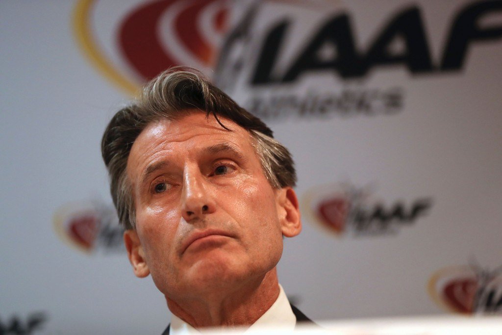 Two-time Olympic gold medallist Sebastian Coe is the current President of the IAAF ©Getty Images