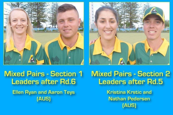 Hosts Australia are dominating the mixed pairs competition ©World Bowls